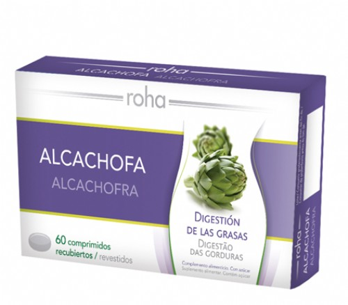 ROHA ALCACHOFA COMP RECUBIERTOS (400 MG 60 COMPRIMIDOS)
