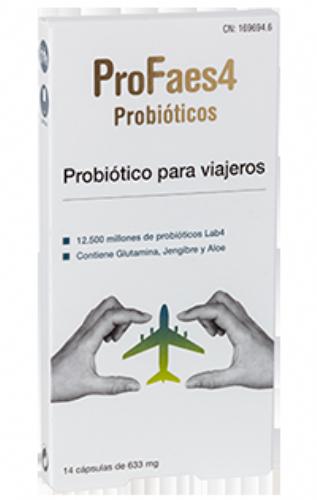 PROFAES4 PROBIOTICO PARA VIAJEROS CAPSULAS - 14 CAPSULAS