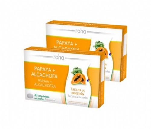 Roha papaya + alcachofa comprimidos recubiertos 30compx2uds