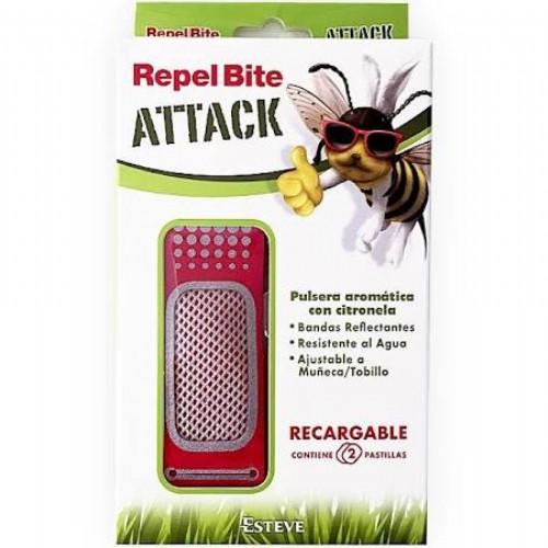 repel bite attack pulsera aromatica citronela (1 pulsera + 2 recambios)