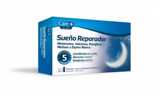 Care+ sueño reparador 30 capsulas wellness