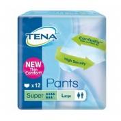 TENA PANTS SUPER absorb inc orina ligera (t- gde 12 u)