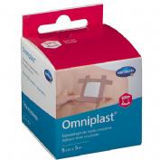 OMNIPLAST esparadrapo hipoalergico (tejido resistente 5 m x 5 cm)
