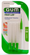GUM 1414 TRAV-LER cepillo interdental viaje (ultrafino 1.1 mm conico 6u)