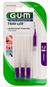 GUM 1512 TRAV-LER cepillo interdental viaje (extrafino 1.2 mm cilindrico 6u)