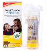 CAMARA DE INHALACION aerochamber plus flow-vu pediatrico (infantil 1 u)