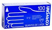 CORYSAN guantes latex (t- peq 100 u)