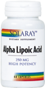 SOLARAY ALPHA LIPOIC ACID 250MG60C