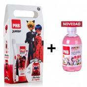 Pack PHB Junior Ladybug + PHB ENJUAGUE BUCAL JUNIOR MADAGASCAR 500ML