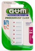 GUM 622 PROXABRUSH CLICK cepillo interdental recambio (1.4 cilindrico 6 u)