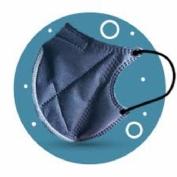 Ergonatural mascarilla reutilizable azul 2u