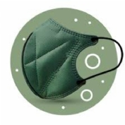 Ergonatural mascarilla reutilizable verde 2u