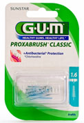 GUM 614 PROXABRUSH cepillo interdental recambio (1.6 conico 8 u)