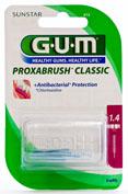 GUM 612 PROXABRUSH cepillo interdental recambio (1.4 cilindrico 8 u)
