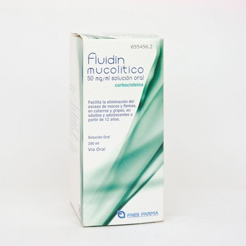 FLUIDÍN MUCOLÍTICO 50 mg/ml SOLUCIÓN ORAL , 1 frasco de 200 ml
