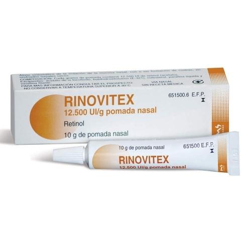 RINOVITEX 12.500 UI /g POMADA NASAL , 1 tubo de 10 g