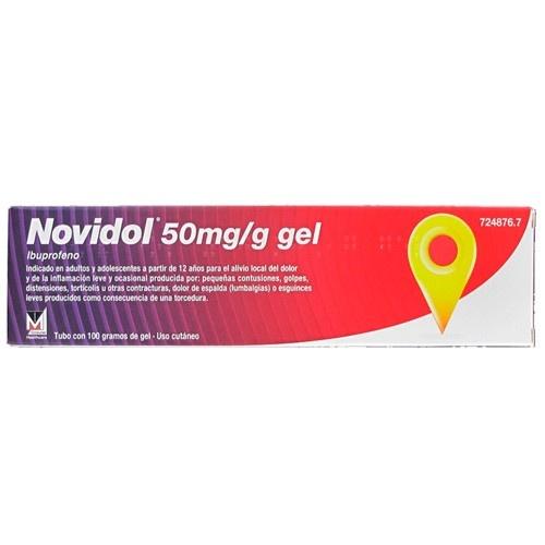 NOVIDOL 50 mg/g GEL,1 tubo de 100 g