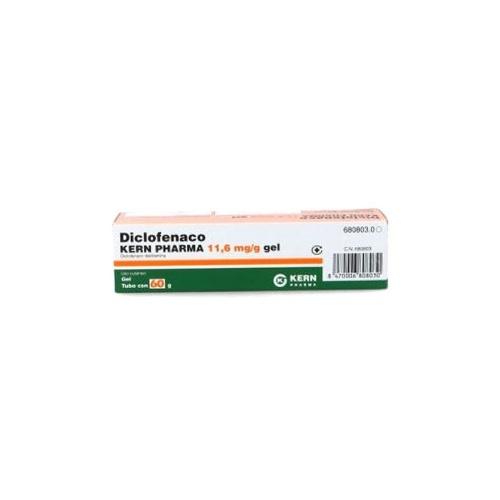 DICLOFENACO KERN PHARMA  11,6 mg/g GEL, 1 tubo de 60 g