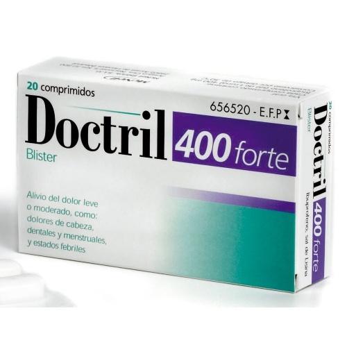 DOCTRIL FORTE 400 MG COMPRMIDOS RECUBIERTOS CON PELICULA, 20 comprimidos