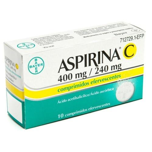 ASPIRINA C 400 mg/240 mg COMPRIMIDOS EFERVESCENTES , 10 comprimidos