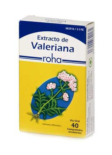 EXTRACTO DE VALERIANA ROHA 140 mg COMPRIMIDOS RECUBIERTOS , 40 comprimidos