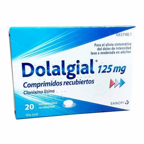 DOLALGIAL CLONIXINO LISINA 125 mg COMPRIMIDOS RECUBIERTOS , 20 comprimidos