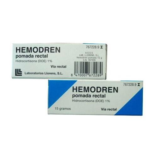 HEMODREN POMADA RECTAL, 1 tubo de 15 g