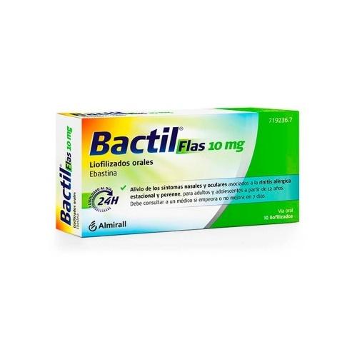 BACTIL FLAS 10 MG LIOFILIZADOS ORALES, 10 liofilizados orales