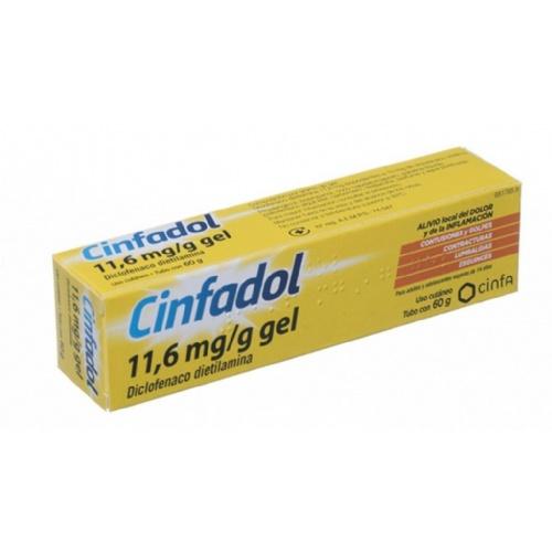 CINFADOL DICLOFENACO 11,6 MG/G GEL , 1 tubo de 60 g