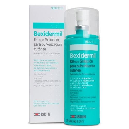 BEXIDERMIL 100 mg/ml  SOLUCION PARA PULVERIZACION CUTANEA , 1 frasco de 200 ml