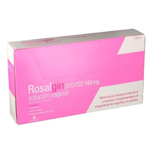 ROSALGIN PRONTO 140 mg SOLUCIÓN VAGINAL, 5 envases unidosis de 140 ml