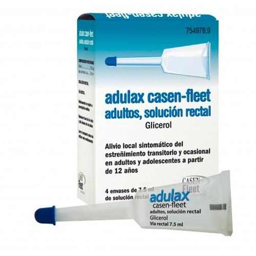 ADULAX 7,5  G SOLUCIÓN RECTAL , 4 enemas de 7,5 ml