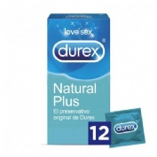 PRESERVATIVOS durex natural plus (12 u)