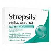 STREPSILS pastillas para chupar sabor menta , 24 pastillas