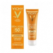 ideal soleil spf 50+ cuidado antimanchas 3 en 1 (color 50 ml)