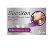 BUCOXON 20 MG PASTILLAS PARA CHUPAR SABOR REGALIZ , 18 pastillas