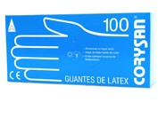 CORYSAN guantes latex (t- gde 100 u)