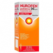 NUROFEN PEDIATRICO 20 MG/ML SUSPENSION ORAL SABOR FRESA ,  1 frasco de 200 ml