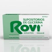 SUPOSITORIOS DE GLICERINA ROVI ADULTOS, 12 supositorios